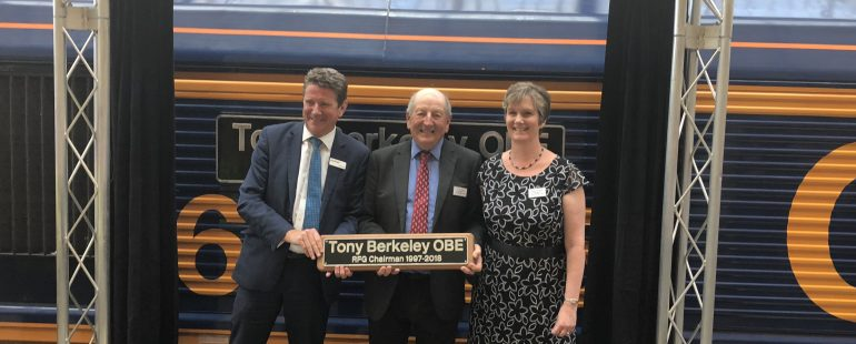 Rail freight sector marks Tony Berkeley's retirement with locomotive named in his honour