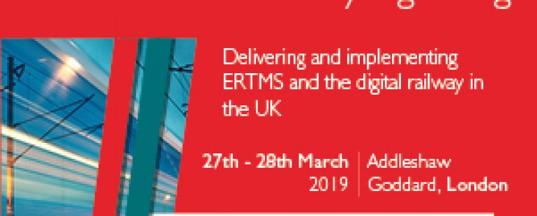 5th Annual (2019) ERTMS & ETCS: The Future of Railway Signalling