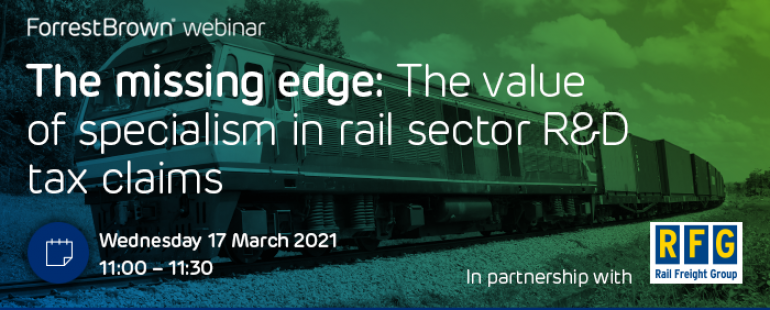The missing edge: The value of specialism in rail sector R&D tax claims
