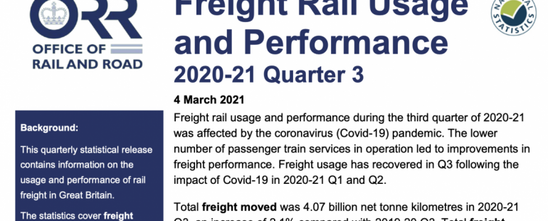 Official statistics show rail freight's resilience