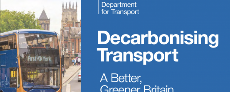 RFG comment on Government's Transport Decarbonisation Plan
